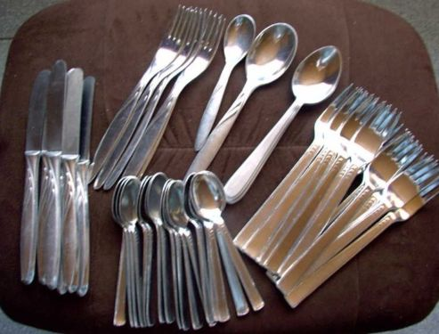 Come on, I grew up eating school meals from ALUMINIUM cutlery.